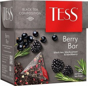 Чай TESS Berry Bar 20 пирамидок