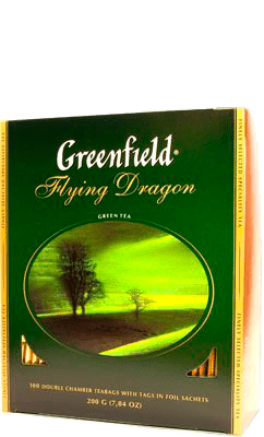 Чай Greenfield Flying Dragon зеленый, 100 пак.