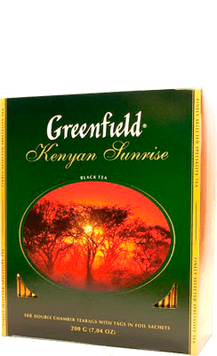 Чай Greenfield Kenyan Sunrise 100 пак.